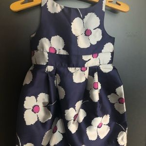 Janie and jack blue floral toddler girl dress